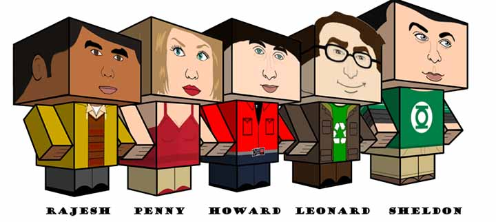 Figurines papercraft Big Bang Theory gratuites