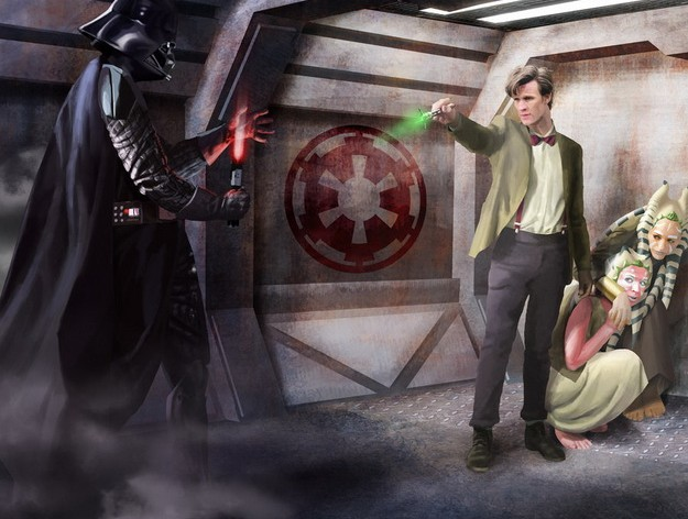 Image result for doctor who fightsting star wars