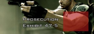Chris Redfield's arms again as Prosecution People's Exhibit 47C