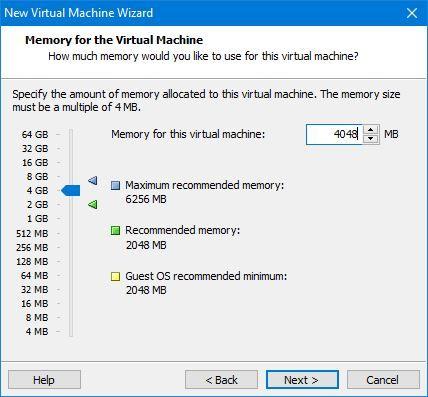 Increase Memory for VM