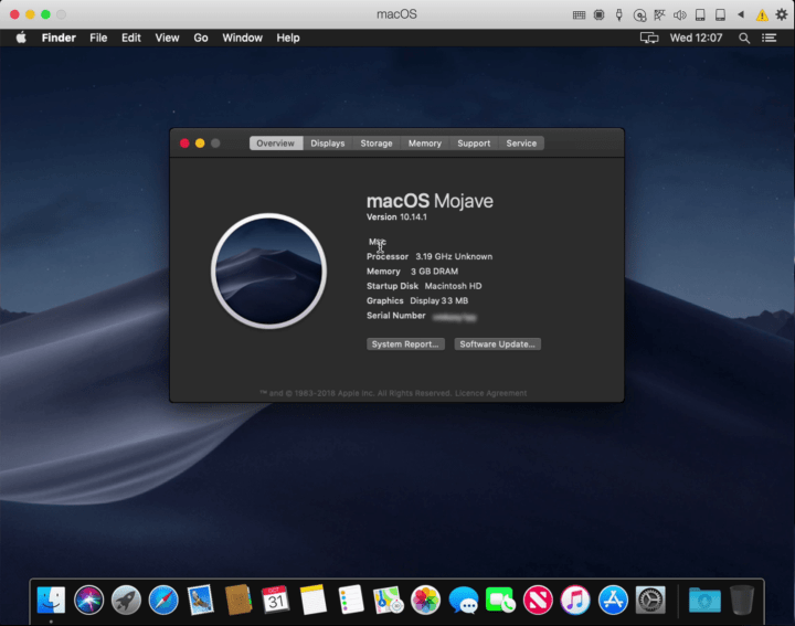 macOS Mojave on Parallels