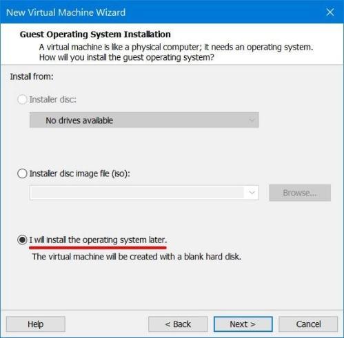 Guest OS Installation