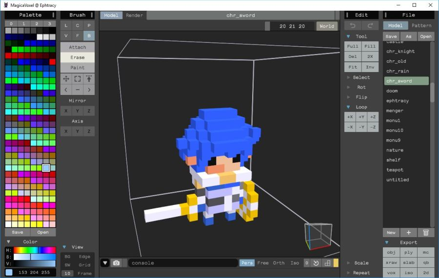 MagicaVoxel 0.99.1 released