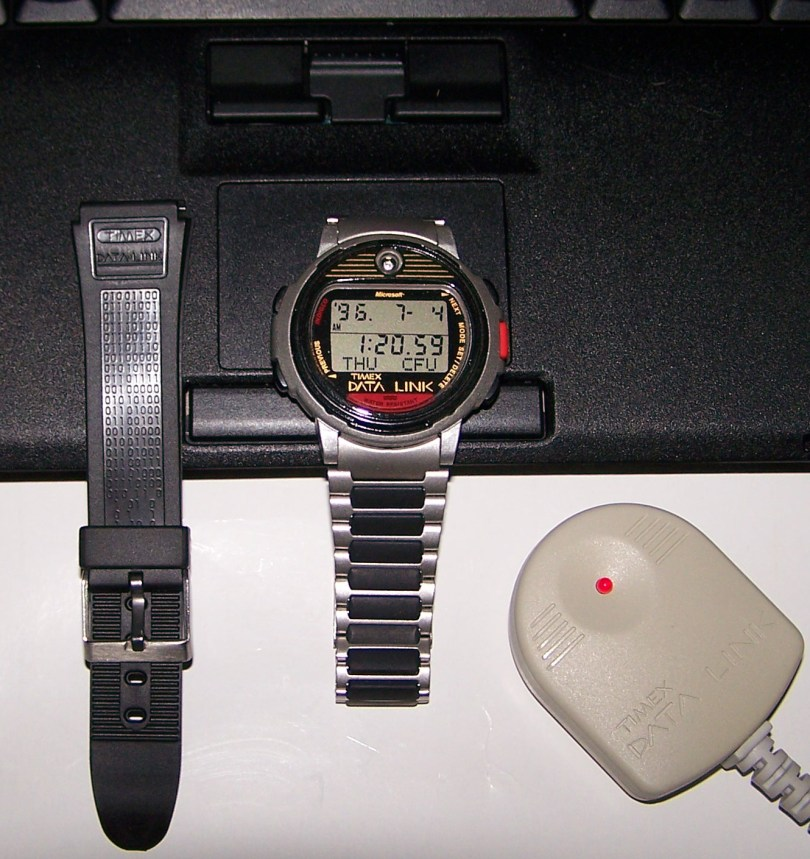 By the early 90's Timex would bring computer data to the wrist with their Datalink 50 released in 1994.