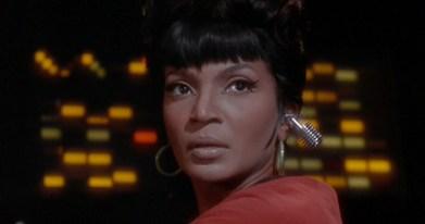 Uhura with Bluetooth earpiece