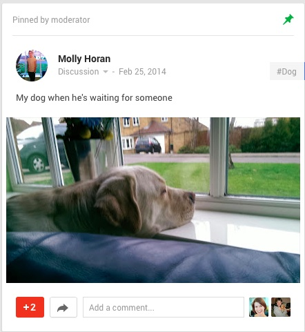 Communautes Google+ - Epingler statut Pin Post 1 - Mars 2014