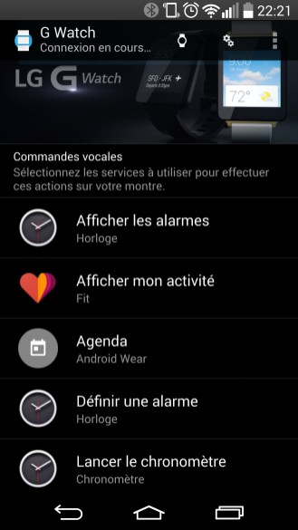 Android Wear - Interface 1