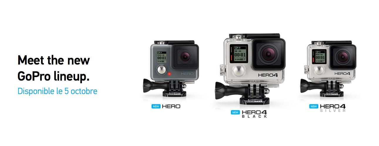 GoPro dévoile ses nouvelles caméras Hero4 Black, Hero4