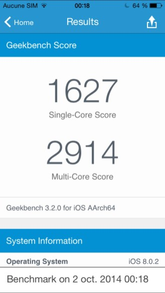 Apple iPhone 6 Plus - Benchmark 02