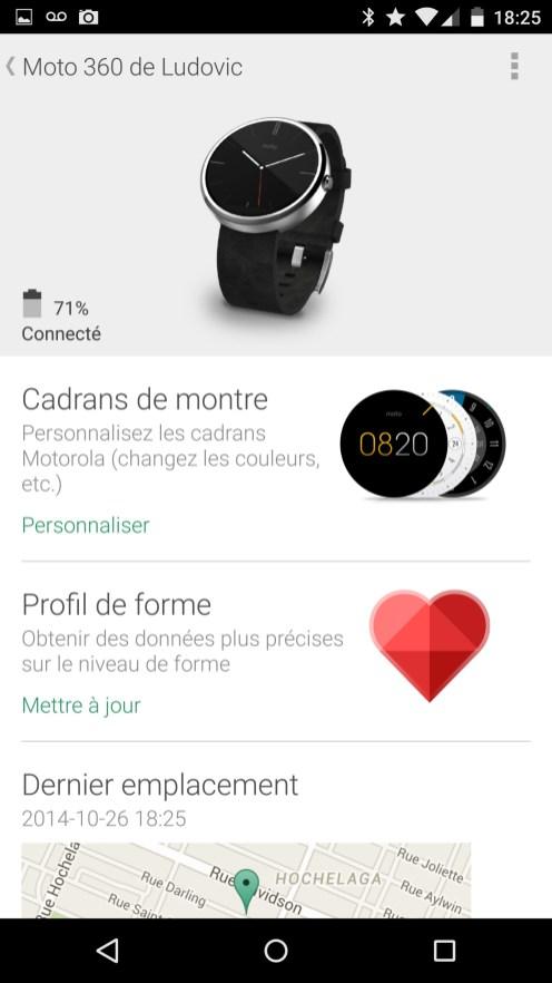 Motorola Moto 360 - Application Android Wear 3