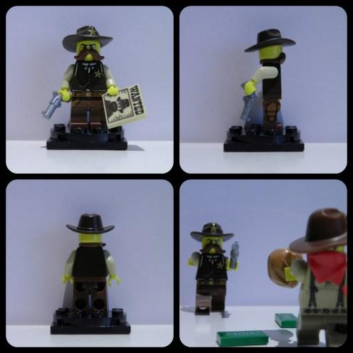 « Je suis le shérif de cette ville! Rend-toi! » *Le voleur et l'argent ne sont pas inclus dans l'ensemble.