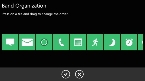 Application Mobile Microsoft Band 1