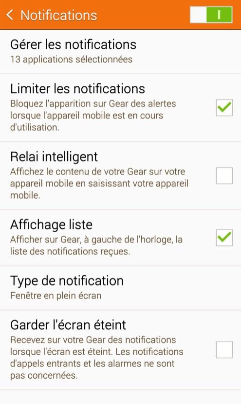 Samsung Galaxy Gear S - Notifications