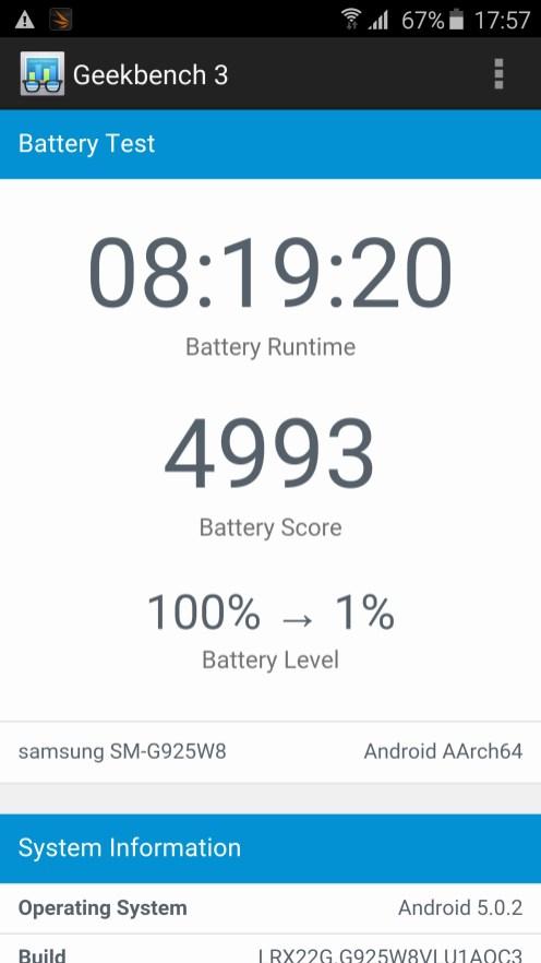 Galaxy S6 edge Battery Test
