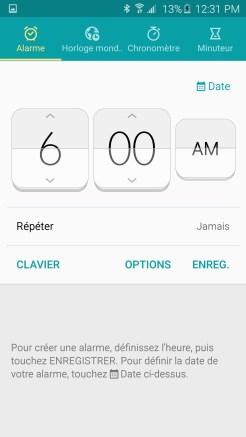 Galaxy S6 Horloge