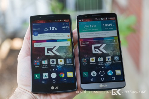 LG G4 (à gauche) vs LG G3 (à droite)