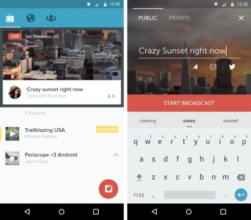 Periscope Twitter Android - Live Streaming