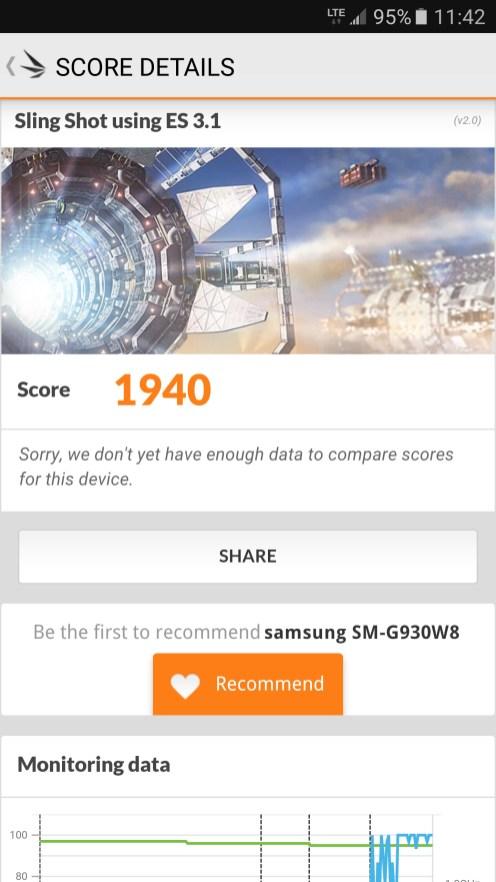 Samsung Galaxy S7 - 3DMark Slingshot 3.1