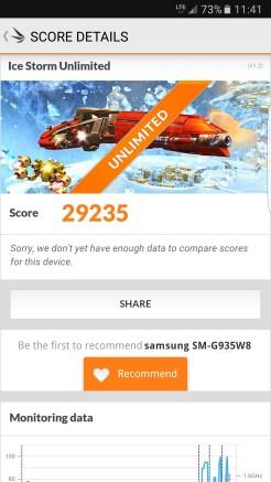 Samsung Galaxy S7 edge - 3DMark Icestorm Unlimited