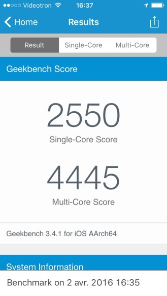 iPhone SE Geekbench - 02