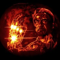 Iron Man Snapping His Finger On This Rad Pumpkin Carving Of The Year
