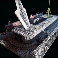 Grand 50,000 Piece LEGO STAR WARS Death Star Trench Run With X-Wing