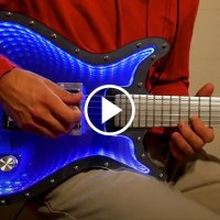 The Most Insane Infinity Mirror Guitar and It Looks Ridiculous