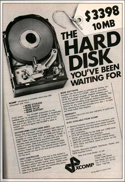 10 MB Hard Drive