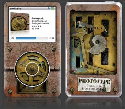 Steampunk iPod Skin