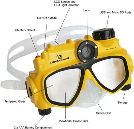 Underwater Digital Camera Diving Mask
