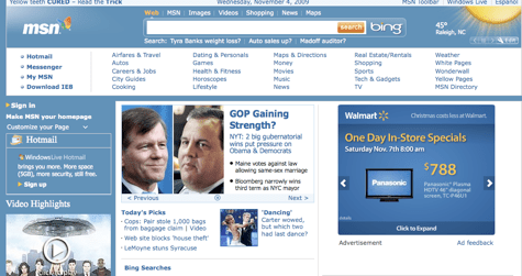MSN Home Page