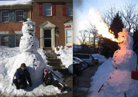 Fire-Breathing Snowman