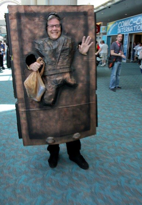 Carbonite Han at Comic-Con 2011 in San Diego