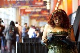 Poison Ivy Reading... Something (New York Comic Con 2011)