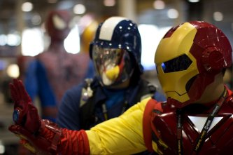 Cobra Commander and Iron Man (New York Comic Con 2011)