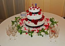Superman and Harley Wedding Cake