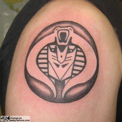 Cobra/Decepticons Mashup Tattoo [Picture]