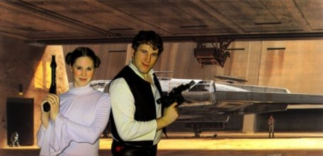 John and Allie as Han and Leia