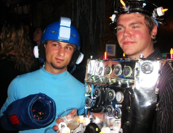 Kevin as Megaman and Robot Friend