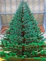November 2011: A Gigantic LEGO Christmas Tree is Unveiled at London's St Pancras railway station