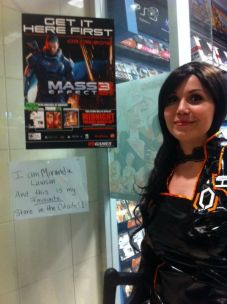 Miranda cosplayer at Winnipeg Gamestop