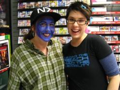 Facepainting at ME3 Midnght Release from @mandaamp