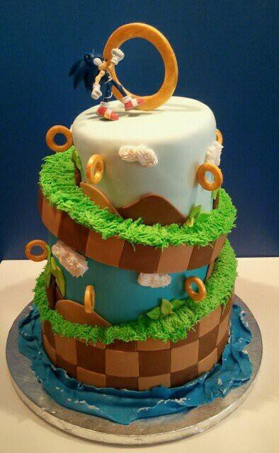 Awesome Sonic The Hedgehog Cake