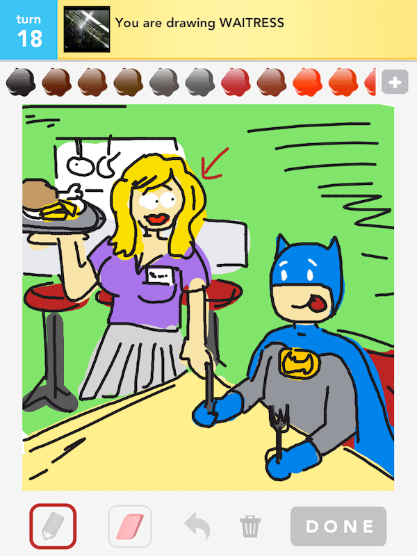 Drawsome Batman-Waitress