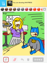 Drawsome Batman-Waitress