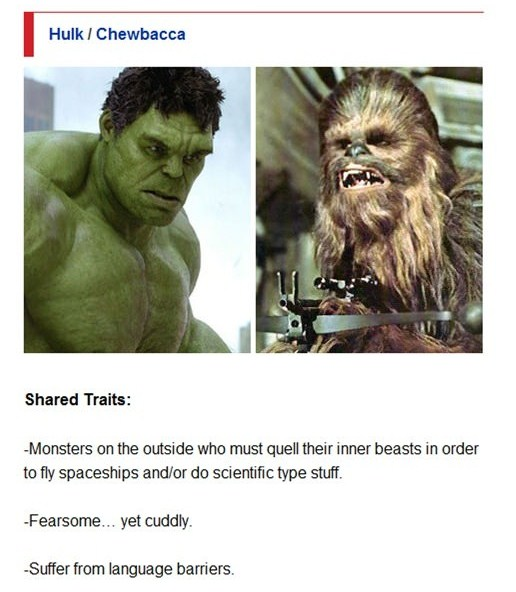 Hulk / Chewbacca
