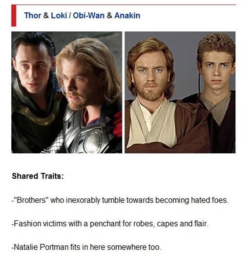 Thor & Loki / Obi-Wan & Anakin
