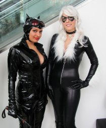 Black Cat and Cat Woman