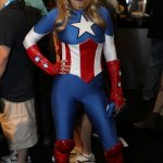 Lady Captain America - Bill Watters - SDCC 2012