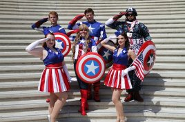 Captain America(s) - Bill Watters - SDCC 2012